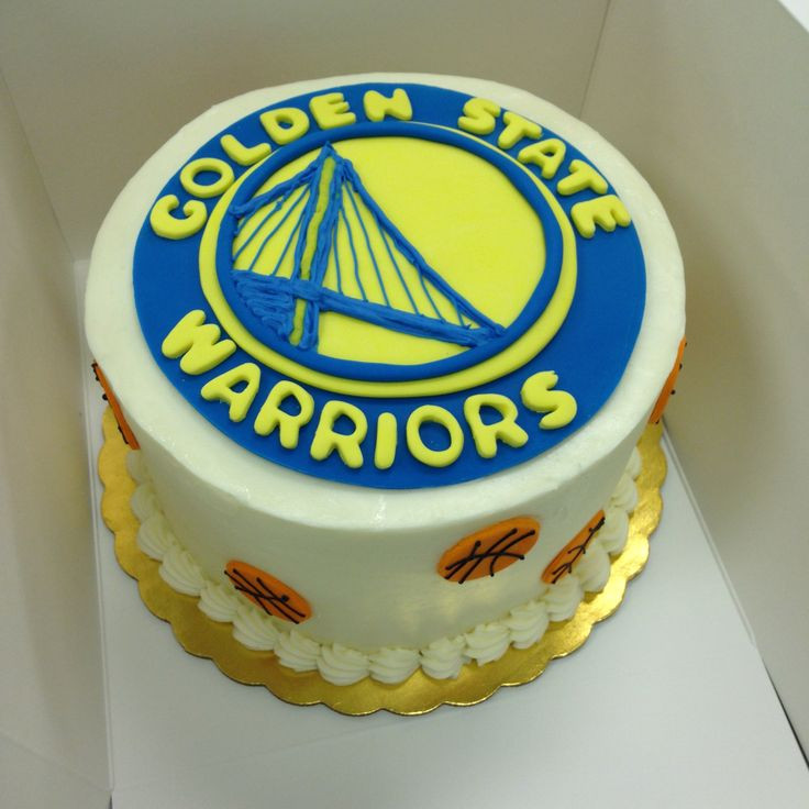 Golden State Warriors Birthday Cake  Golden State Warriors Creative Cakes