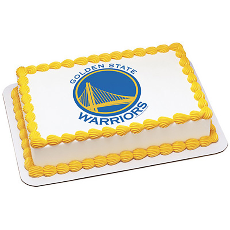 Golden State Warriors Birthday Cake  NBA Golden State Warriors Edible Cake and Cupcake Topper