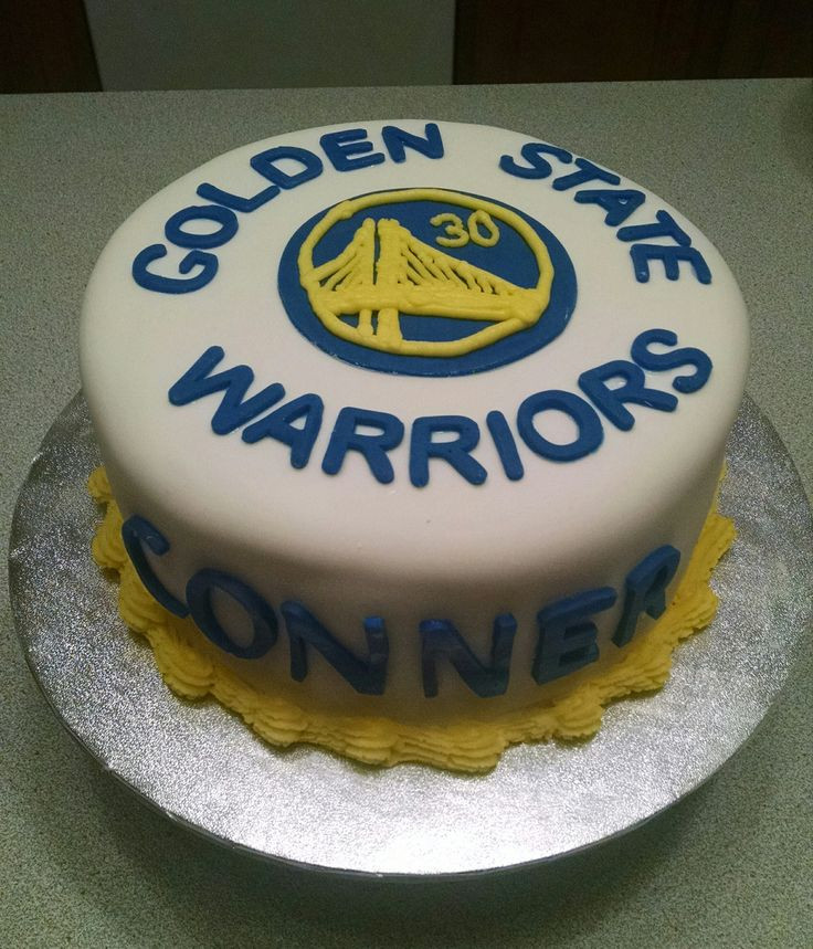 Golden State Warriors Birthday Cake  Birthday cake fora Golden State Warriors basketball fan