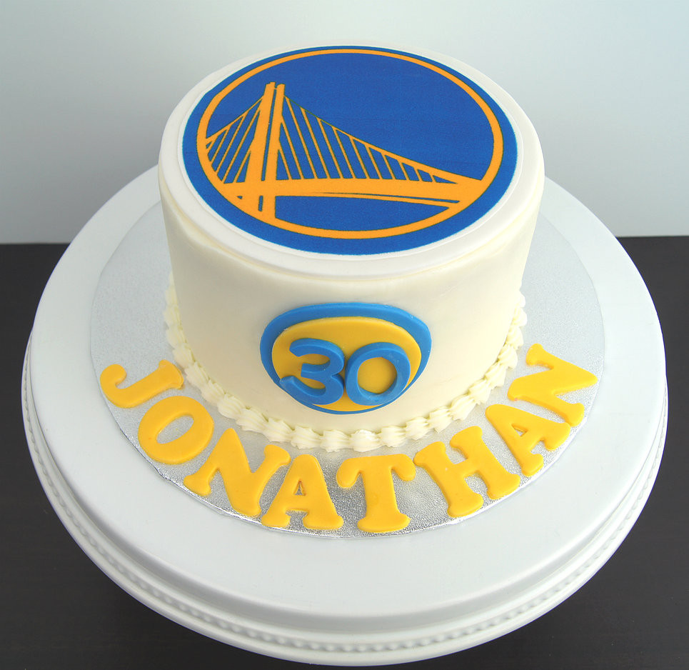 Golden State Warriors Birthday Cake  Treat Confectionery San Diego Cakes and Chocolates