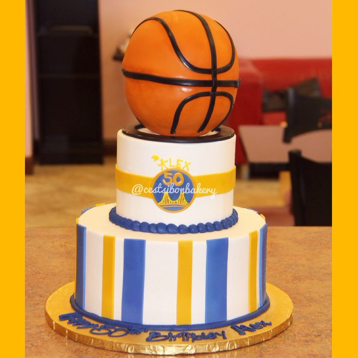 Golden State Warriors Birthday Cake  19 best images about Golden State Warrior cakes on