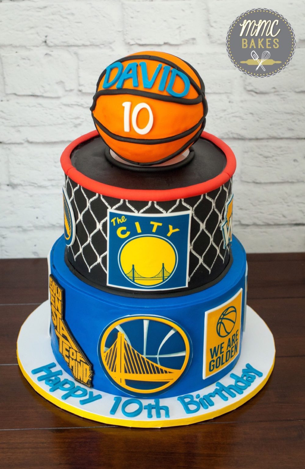 Golden State Warriors Birthday Cake  Basketball cake – MMC Bakes