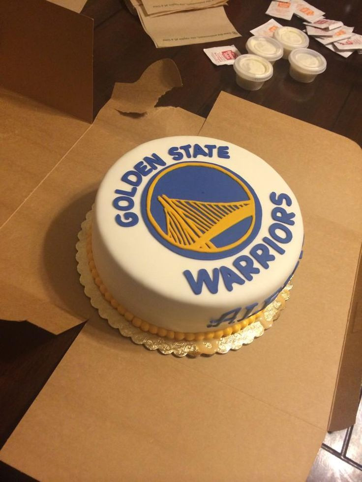 Golden State Warriors Birthday Cake  Golden State Cake Golden State Warriors