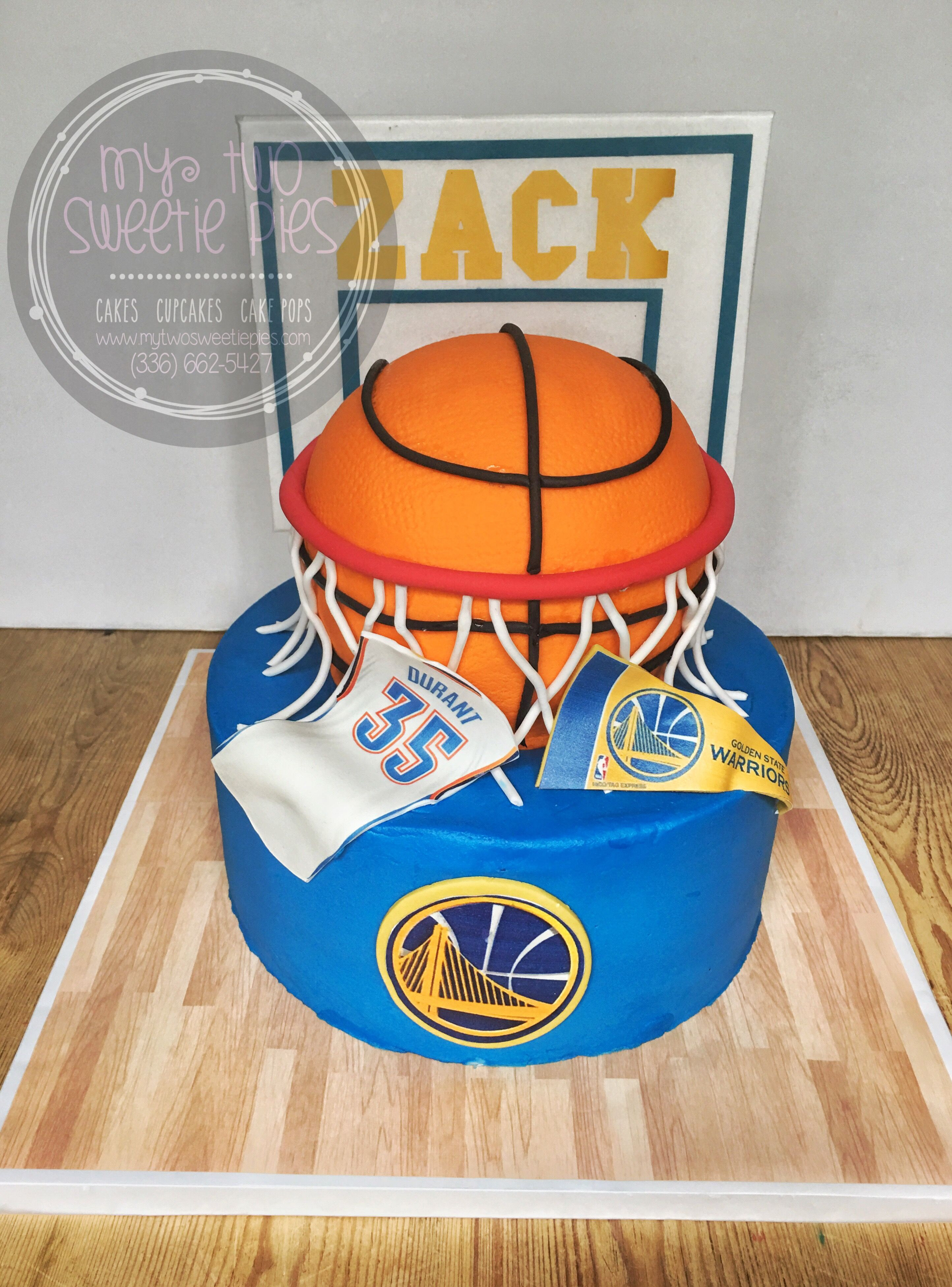 Golden State Warriors Birthday Cake  Golden state Warriors cake Nugz
