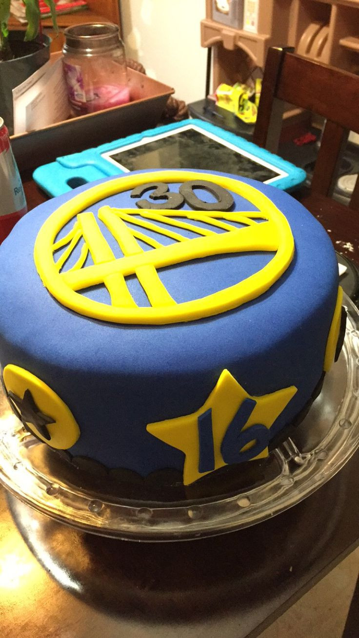 Golden State Warriors Birthday Cake  Golden State Warriors Stephen Curry Cake