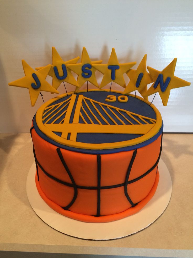 Golden State Warriors Birthday Cake  Golden State Warriors birthday cake