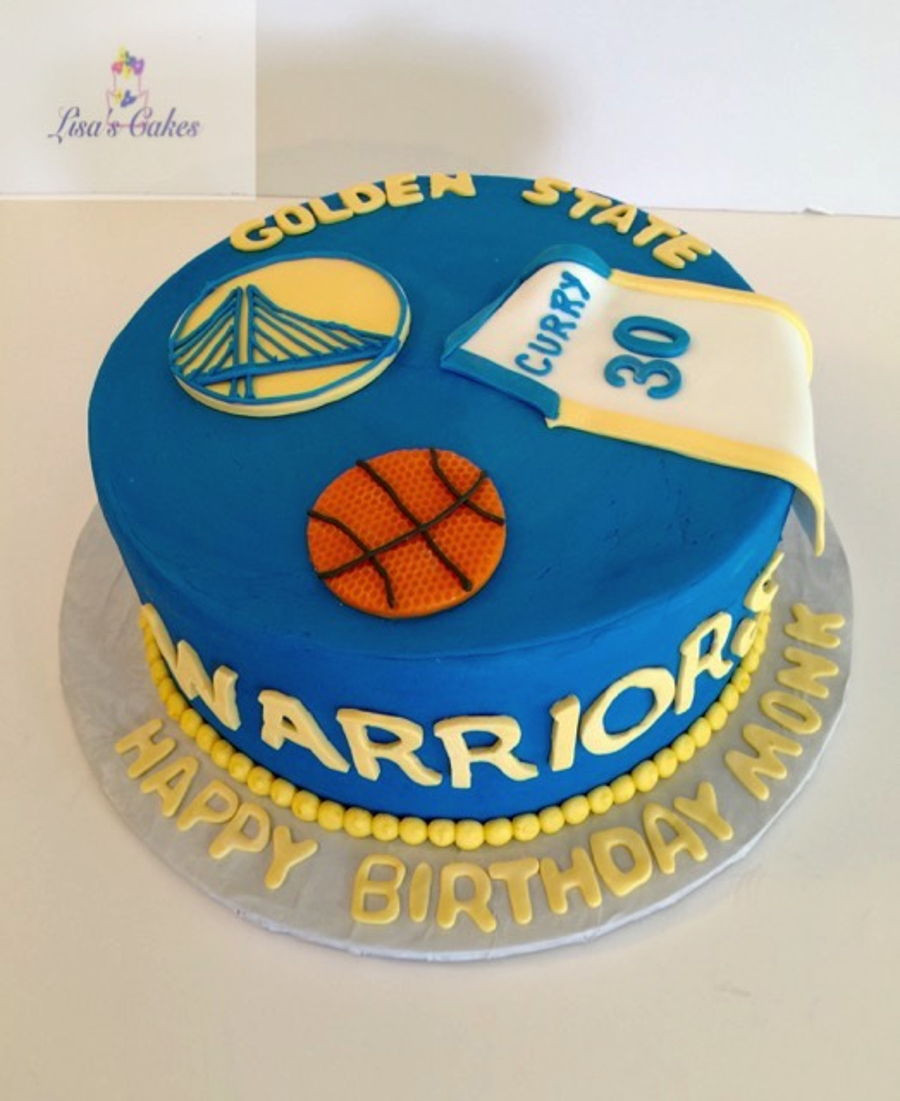 Golden State Warriors Birthday Cake  Golden State Warriors Cake CakeCentral