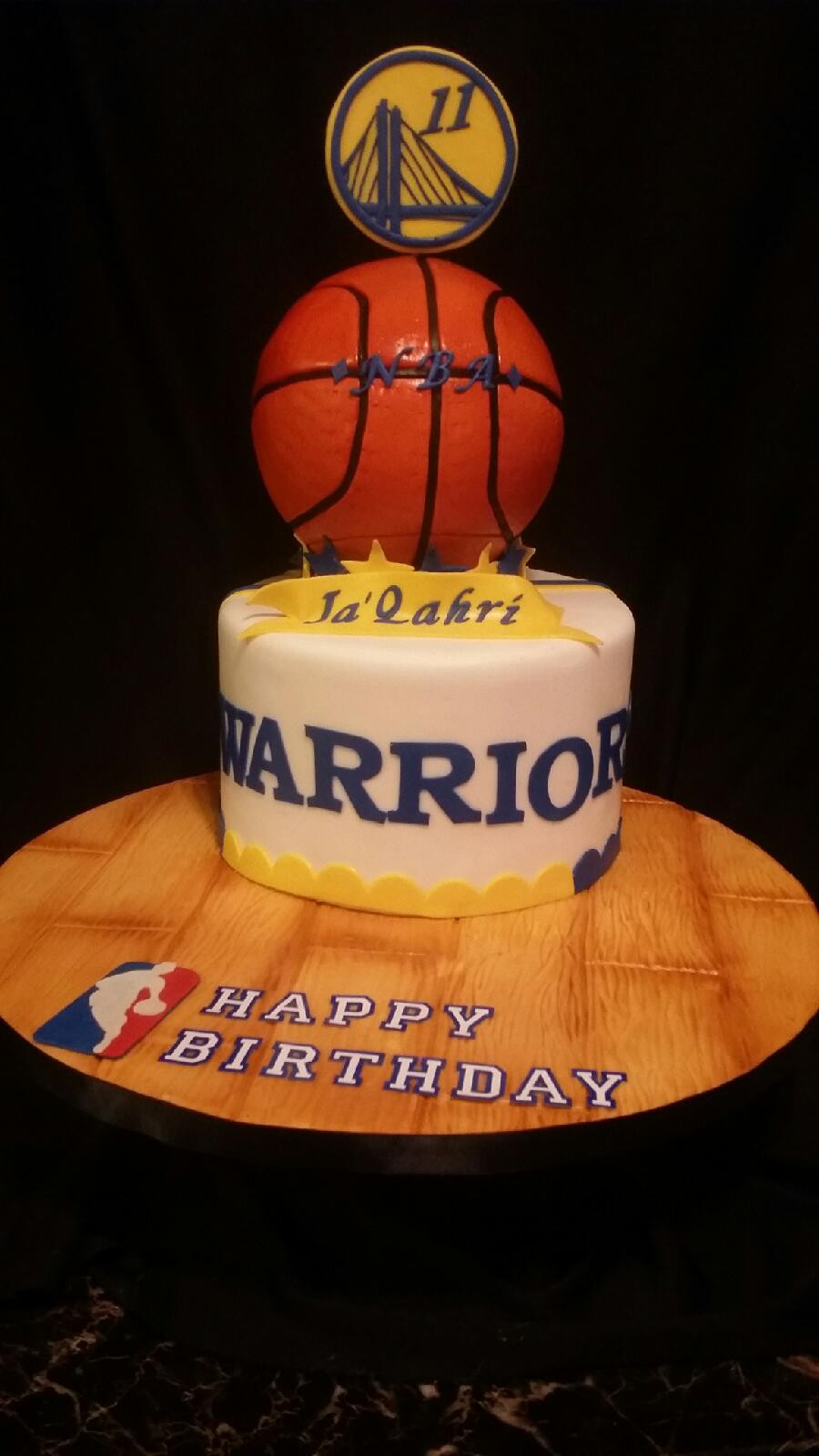 Golden State Warriors Birthday Cake  Golden State Nba Cake CakeCentral