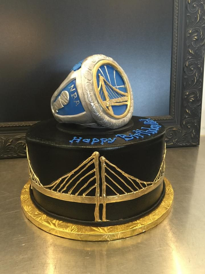 Golden State Warriors Birthday Cake  Golden State Warriors ring birthday cake