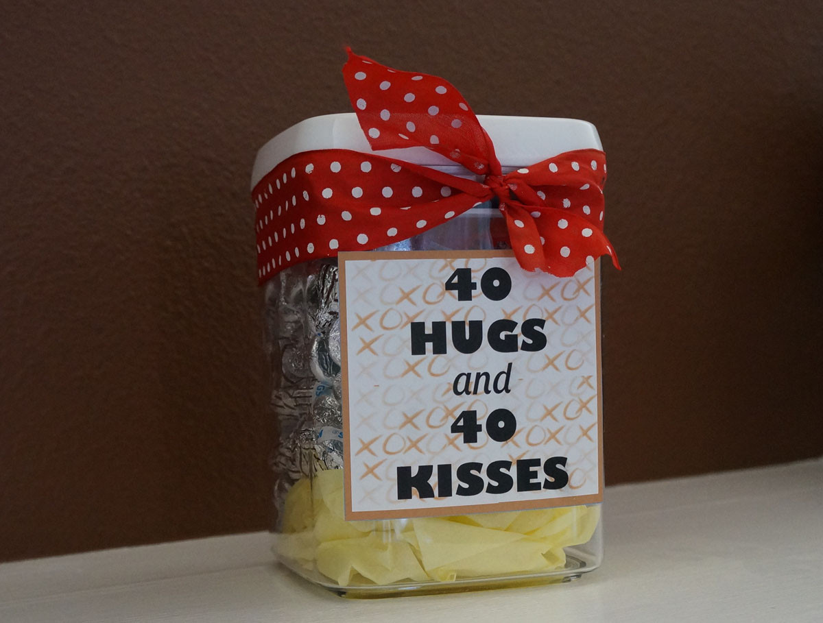 Good 40Th Birthday Gifts  Home Confetti Quick and Easy 40th Birthday Gift