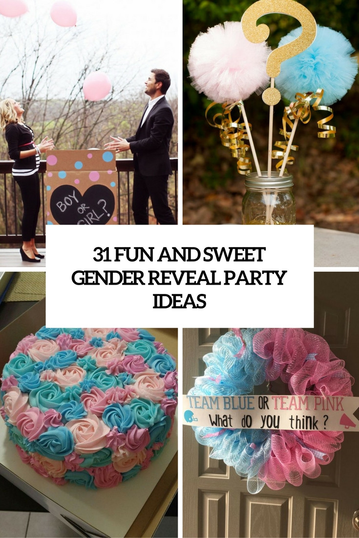 Good Ideas For Gender Reveal Party  31 Fun And Sweet Gender Reveal Party Ideas Shelterness