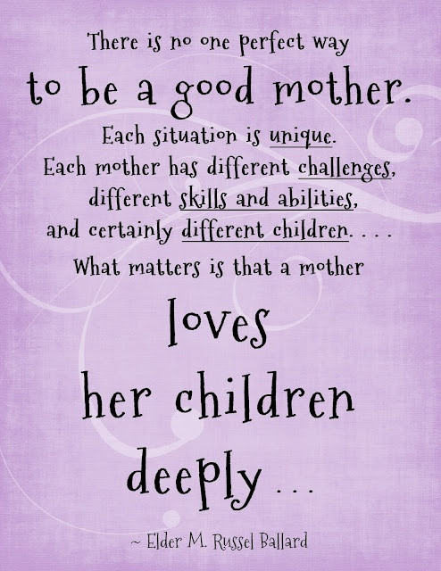 Good Mother Quotes  Mommy Vignettes Being a Good Mother