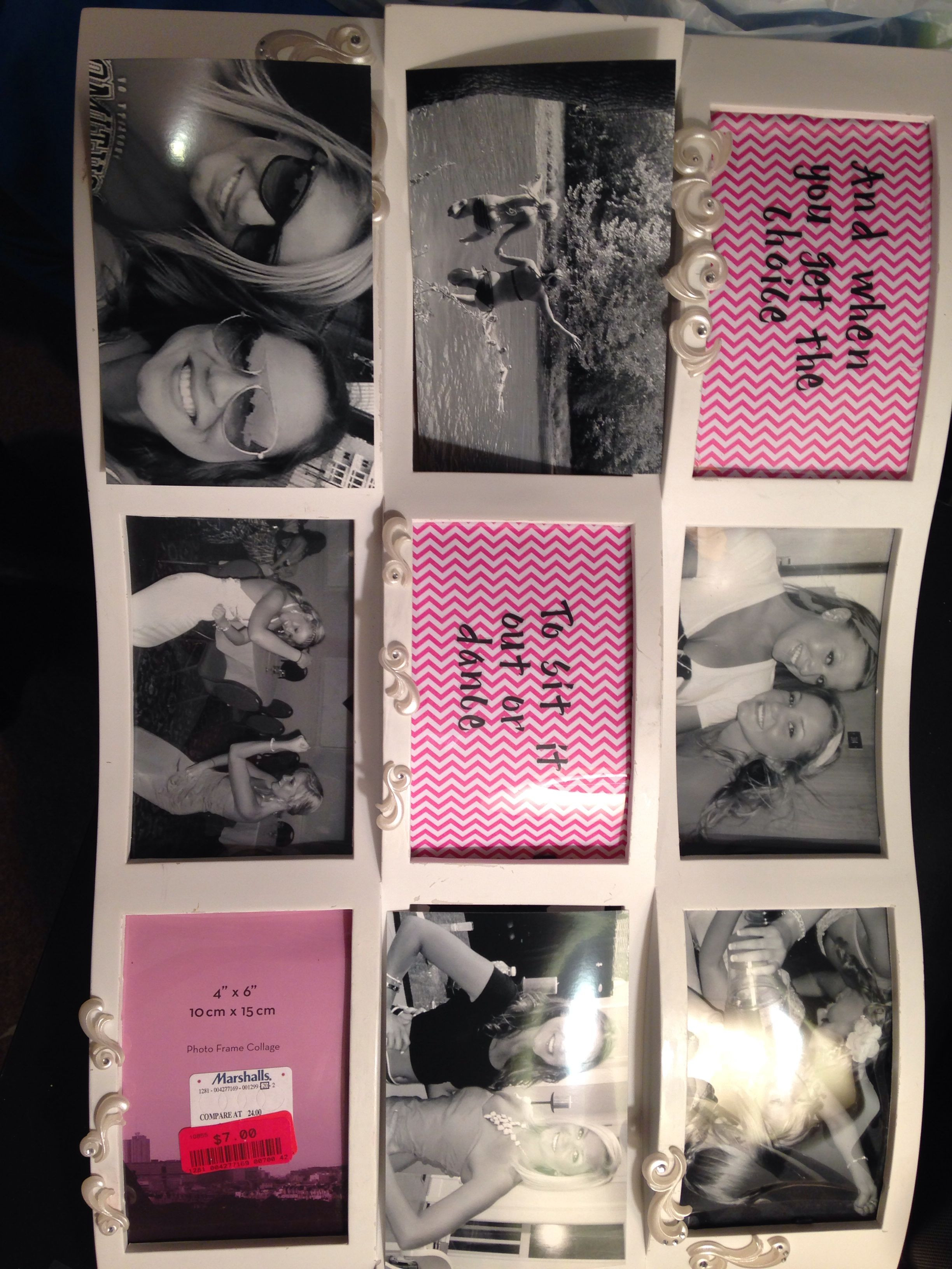 Graduation Gift Ideas For Friends  DIY picture frame collage graduation t to my best