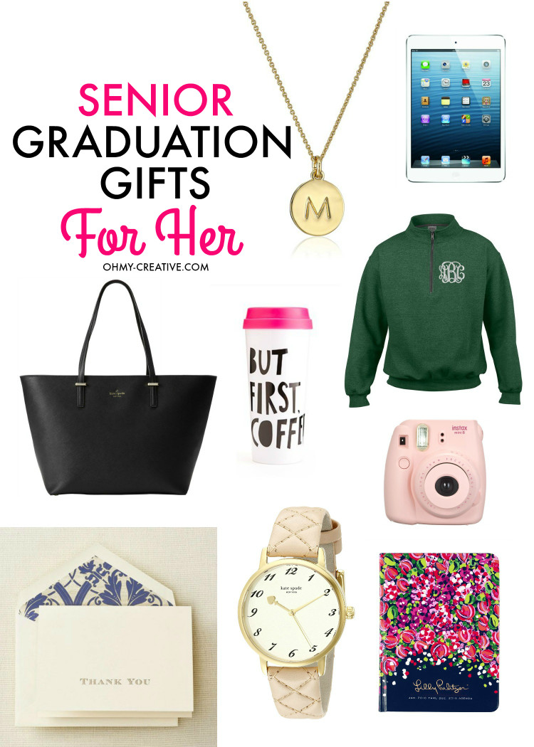Graduation Gift Ideas For Friends  Senior Graduation Gifts for Her Oh My Creative