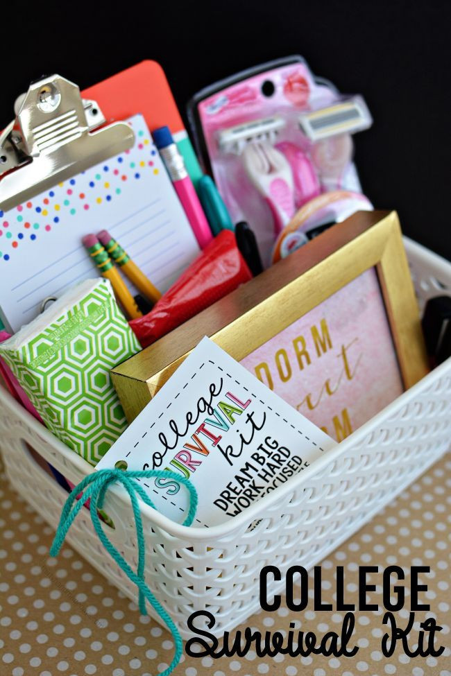 Graduation Gift Ideas For Friends  College Survival Kit with Printables