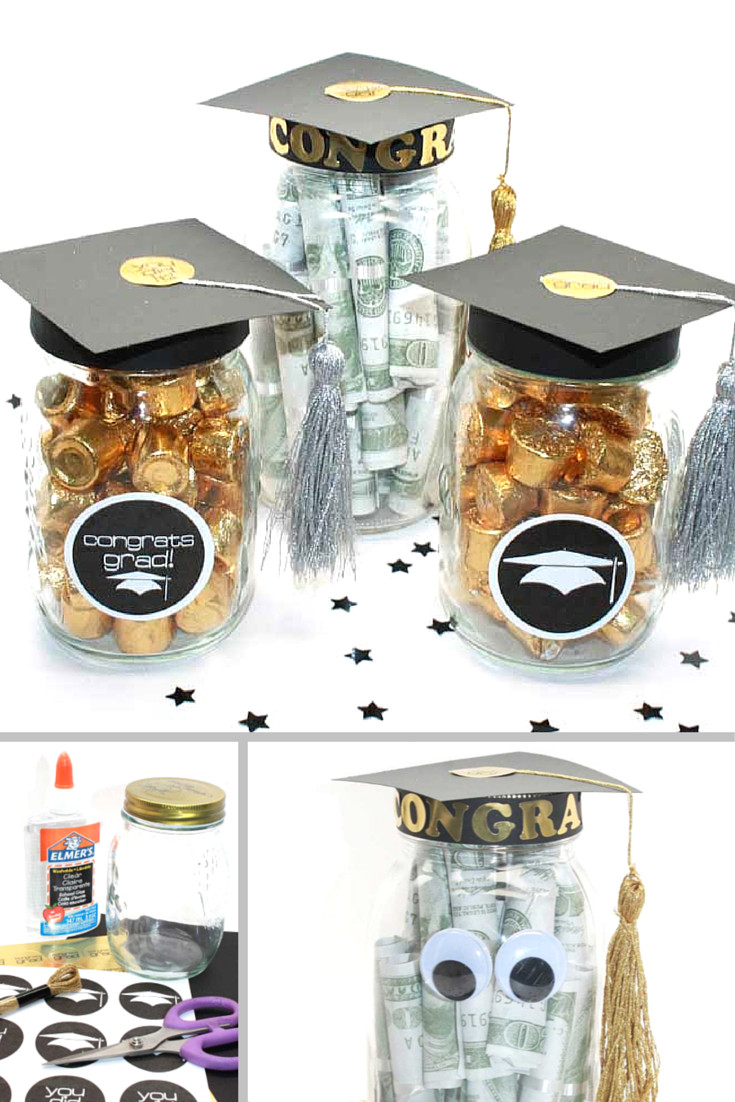 Graduation Party Favor Ideas  DIY Graduation Mason Jar Party Gifts Favors Free