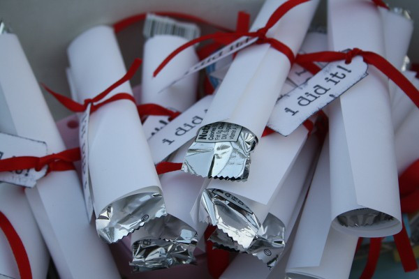 Graduation Party Favor Ideas  Diplomas Diplomas Everywhere B Lovely Events