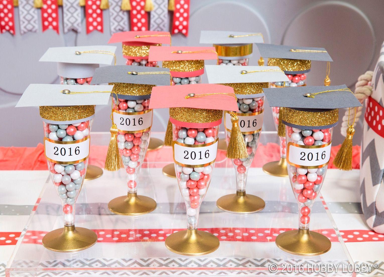 Graduation Party Favor Ideas  Dress up plain party flutes for the perfect graduation