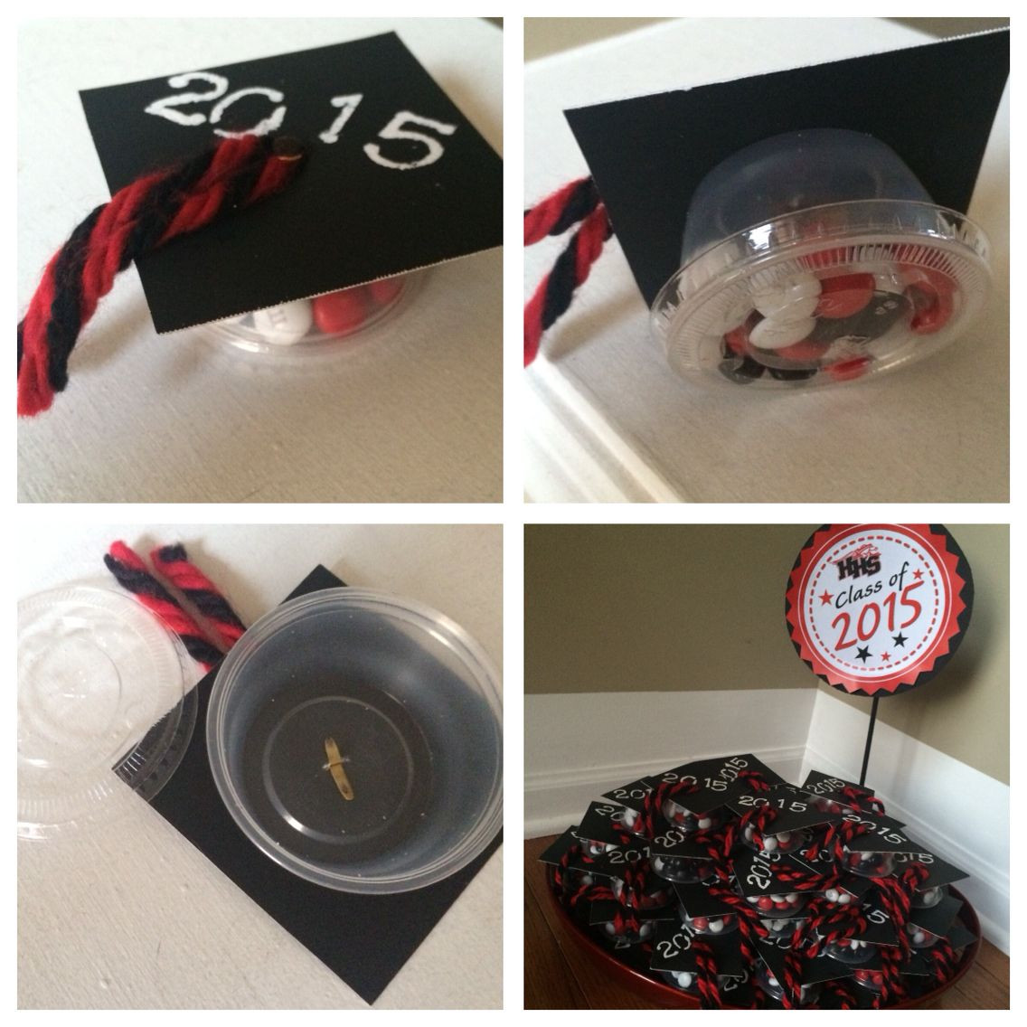 """Graduation Party Favor Ideas  Graduation Party Favors I made these using 3""""x3"""" black"""