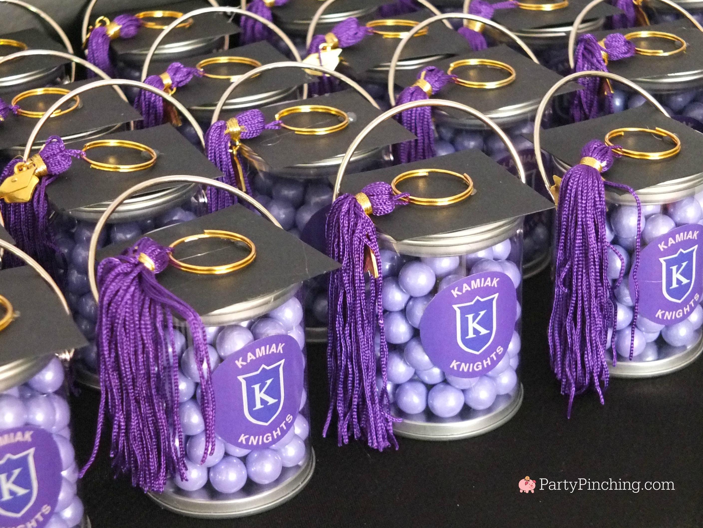Graduation Party Favor Ideas  graduation party favors mortar board cap mini paint cans