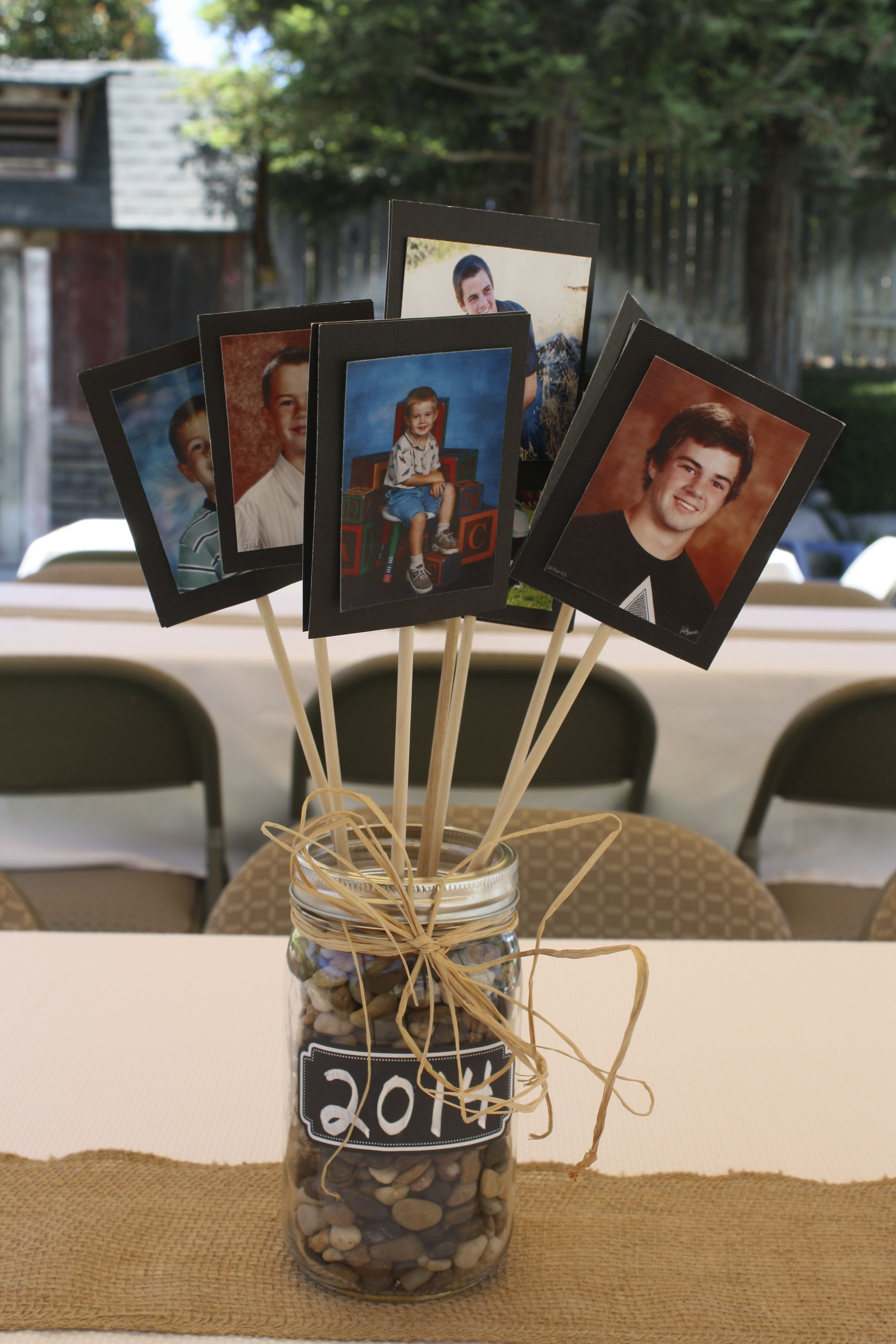 Graduation Party Ideas For Guys  Centerpiece for tables at a graduation party Good for