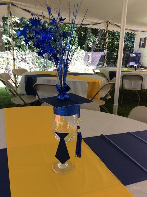 Graduation Party Ideas For Guys  Image result for graduation centerpieces for guys