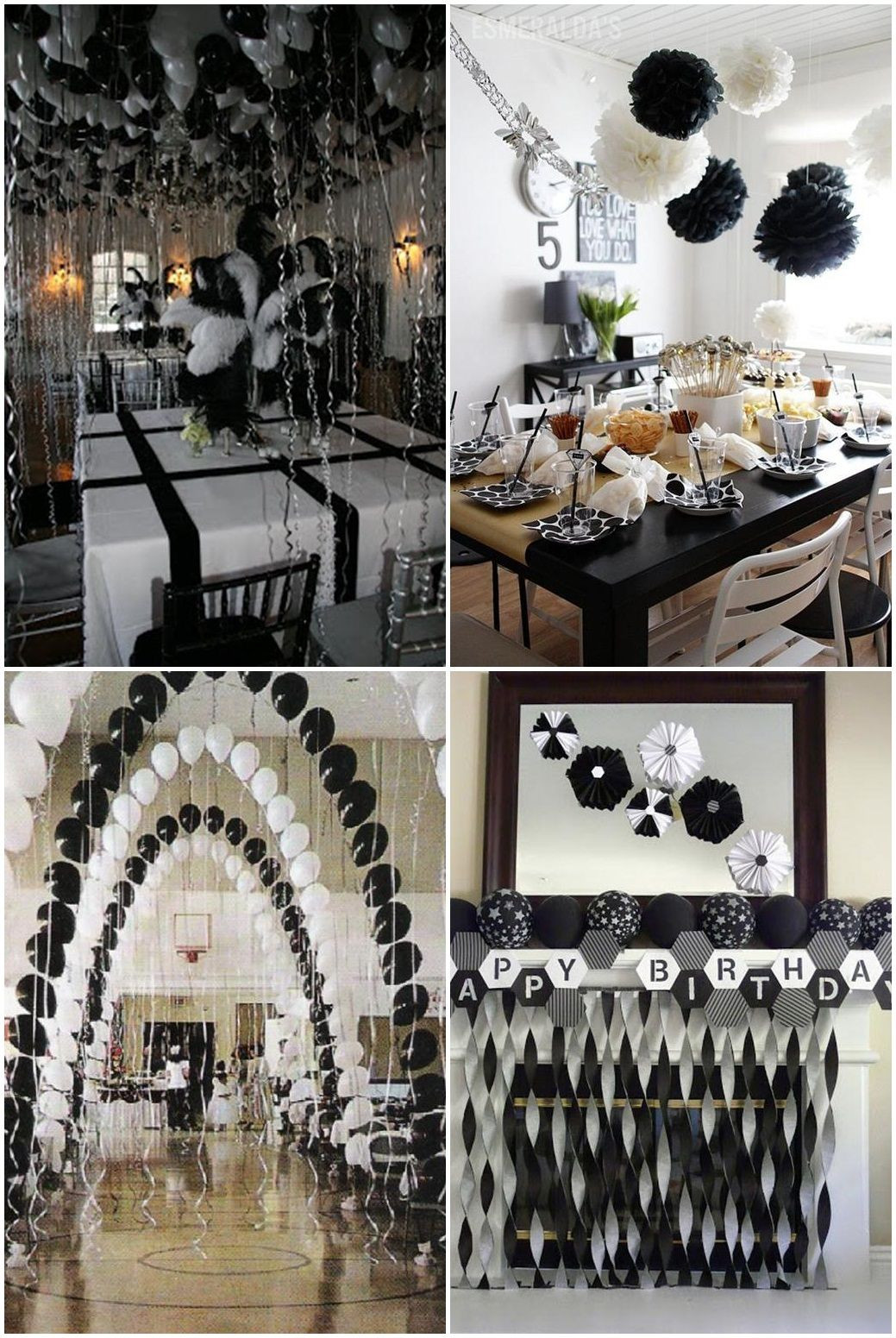 Graduation Party Ideas For Guys  Black And White Graduation Party Ideas
