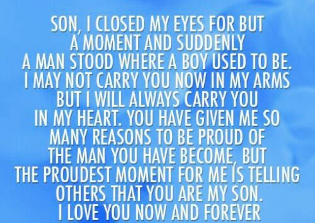 Graduation Quotes For Son From Mother  quotes for son from mom for graduation Google Search