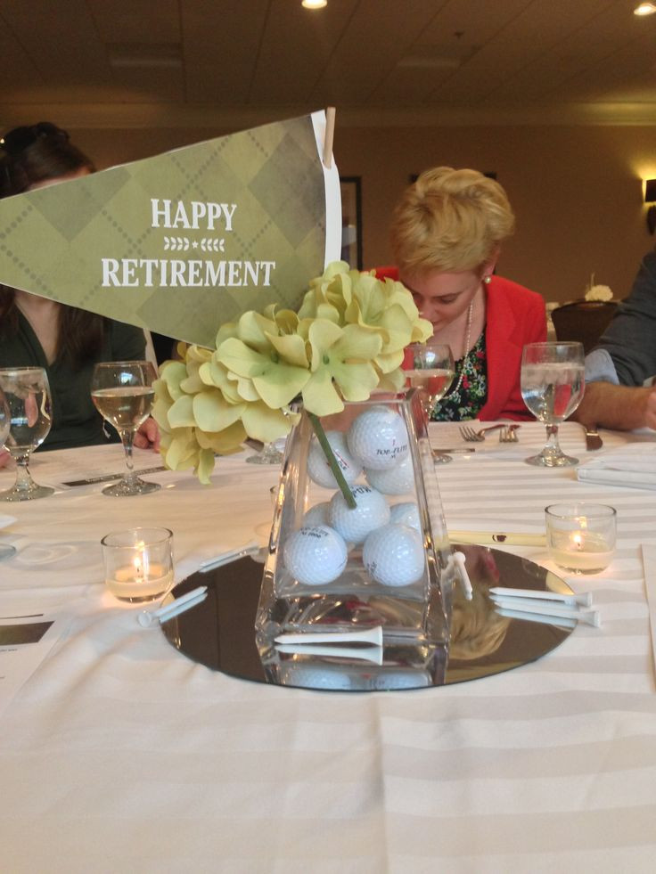 Great Retirement Party Ideas  Retirement party centerpiece Perfect for my golfer