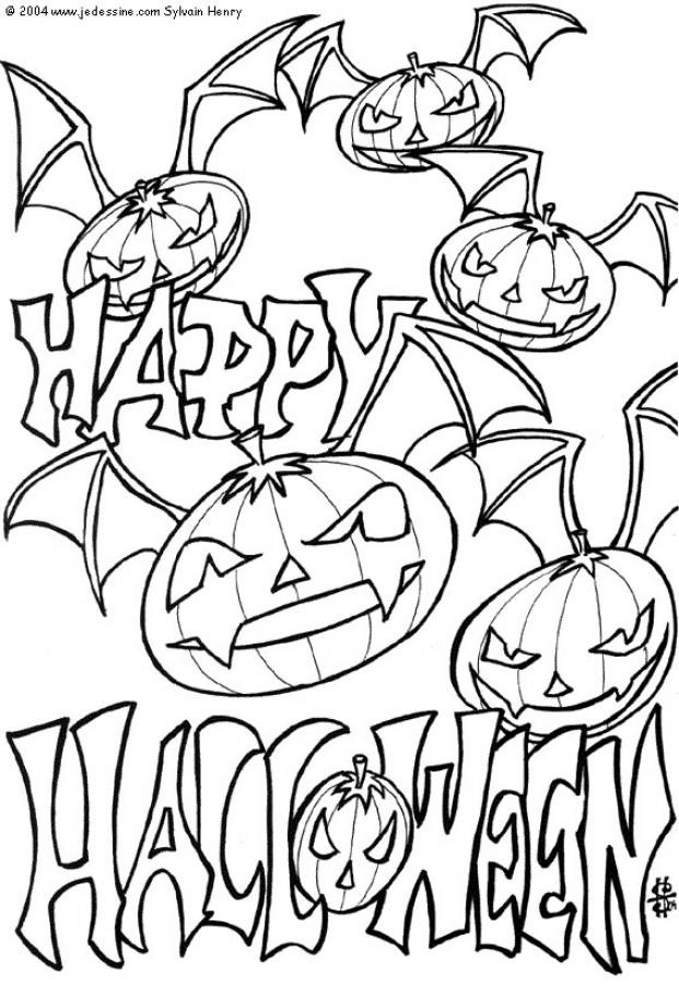 Halloween Coloring Pages To Print  Free Printable Halloween Coloring Pages For Kids