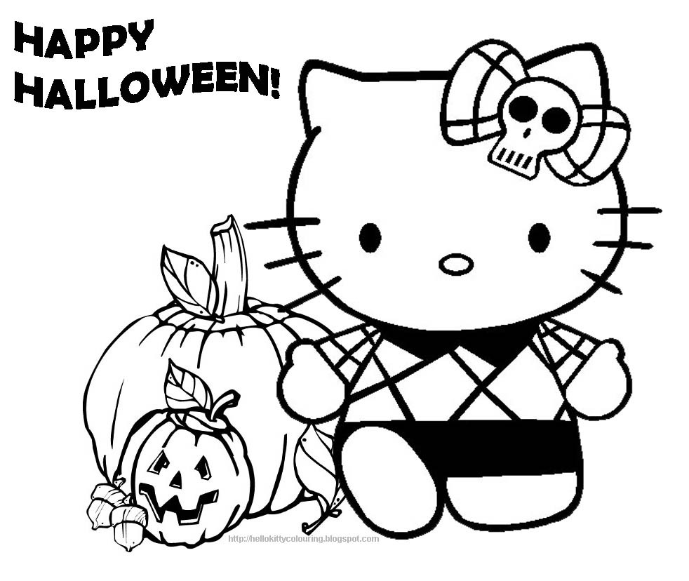 Halloween Coloring Pages To Print  40 Hello Kitty Which Are Pretty SloDive