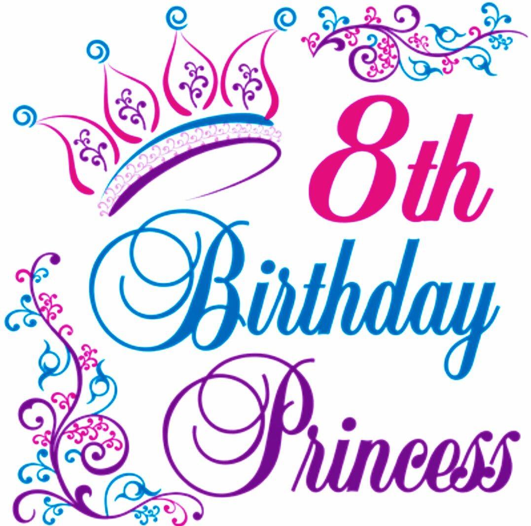 Happy 8Th Birthday Quotes  Happy 8th Birthday Princess ☆♡