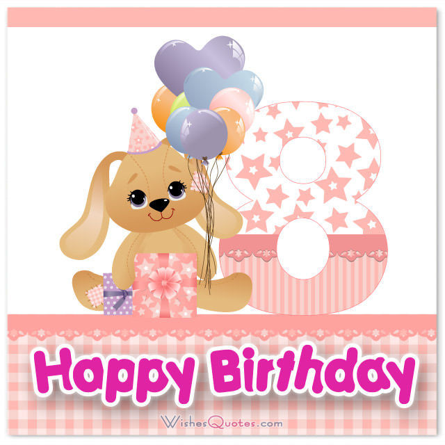 Happy 8Th Birthday Quotes  Happy 8th Birthday Wishes for 8 Year Old Boy or Girl