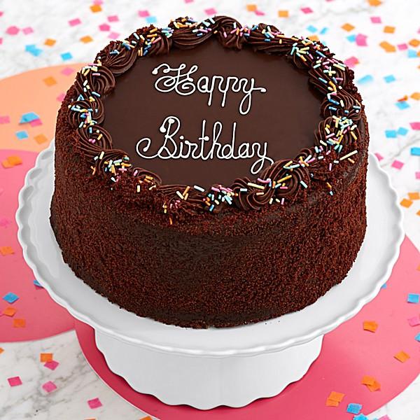 Happy Birthday Cake Image  Three Layer Chocolate Happy Birthday Cake