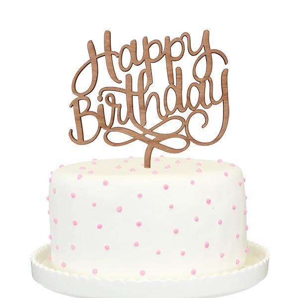 Happy Birthday Cake Topper  Happy Birthday Cake Topper – Alexis Mattox Design