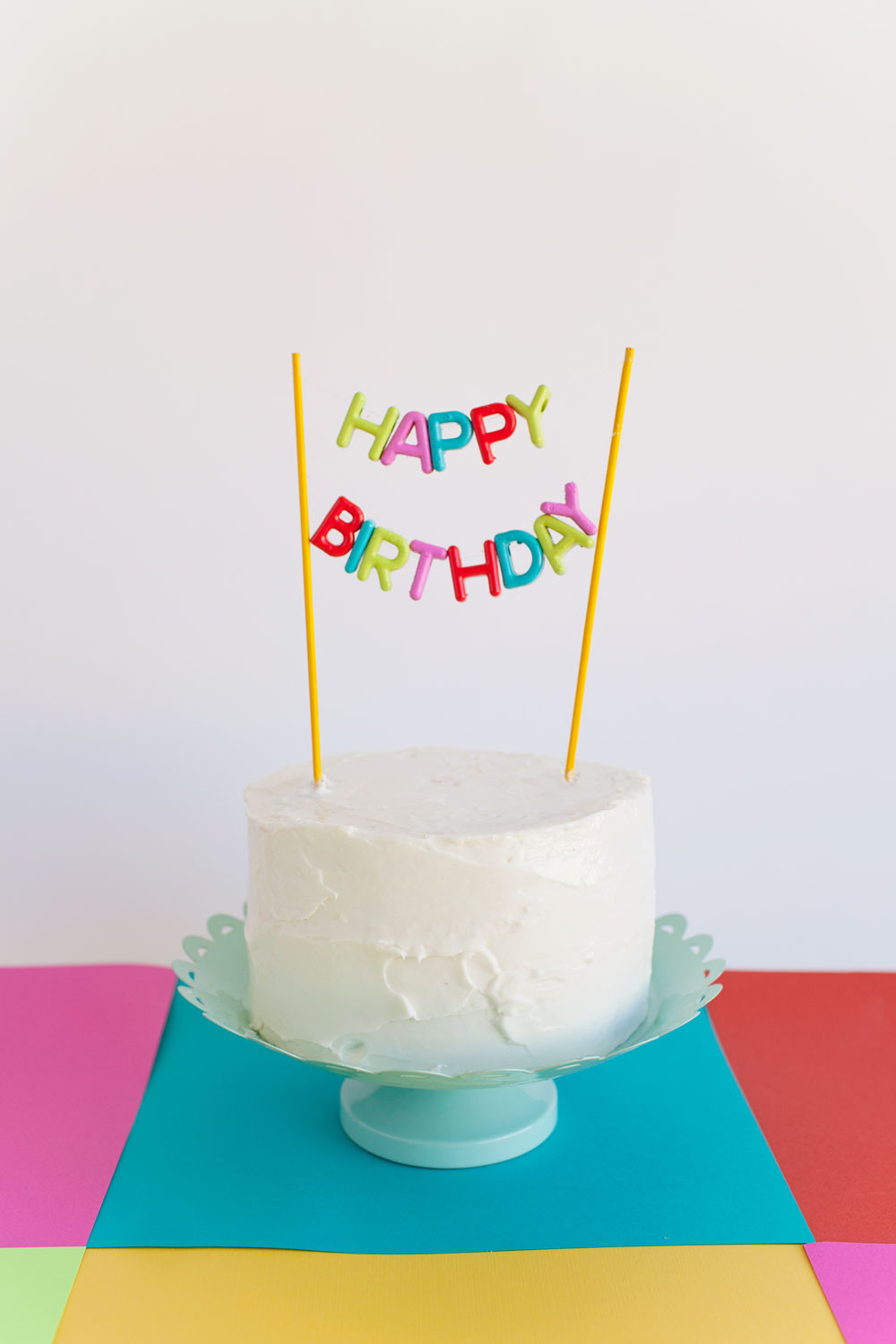 Happy Birthday Cake Topper  ALPHABET BEAD CAKE TOPPER DIY Tell Love and Party