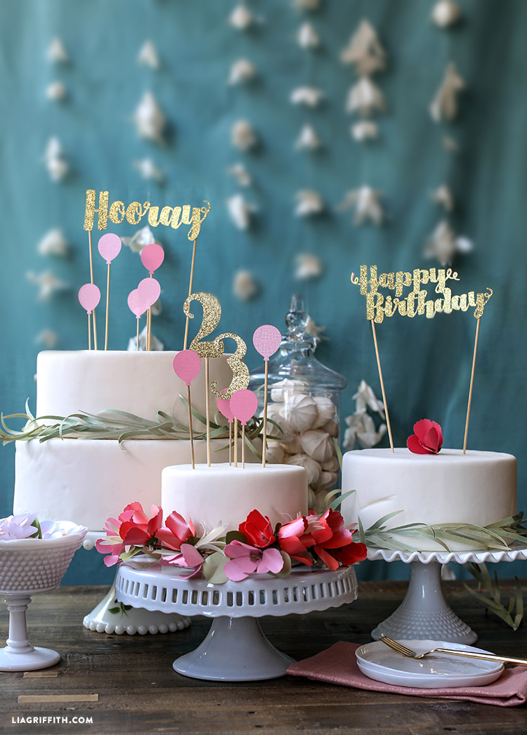 Happy Birthday Cake Topper  Birthday Cake Toppers Lia Griffith