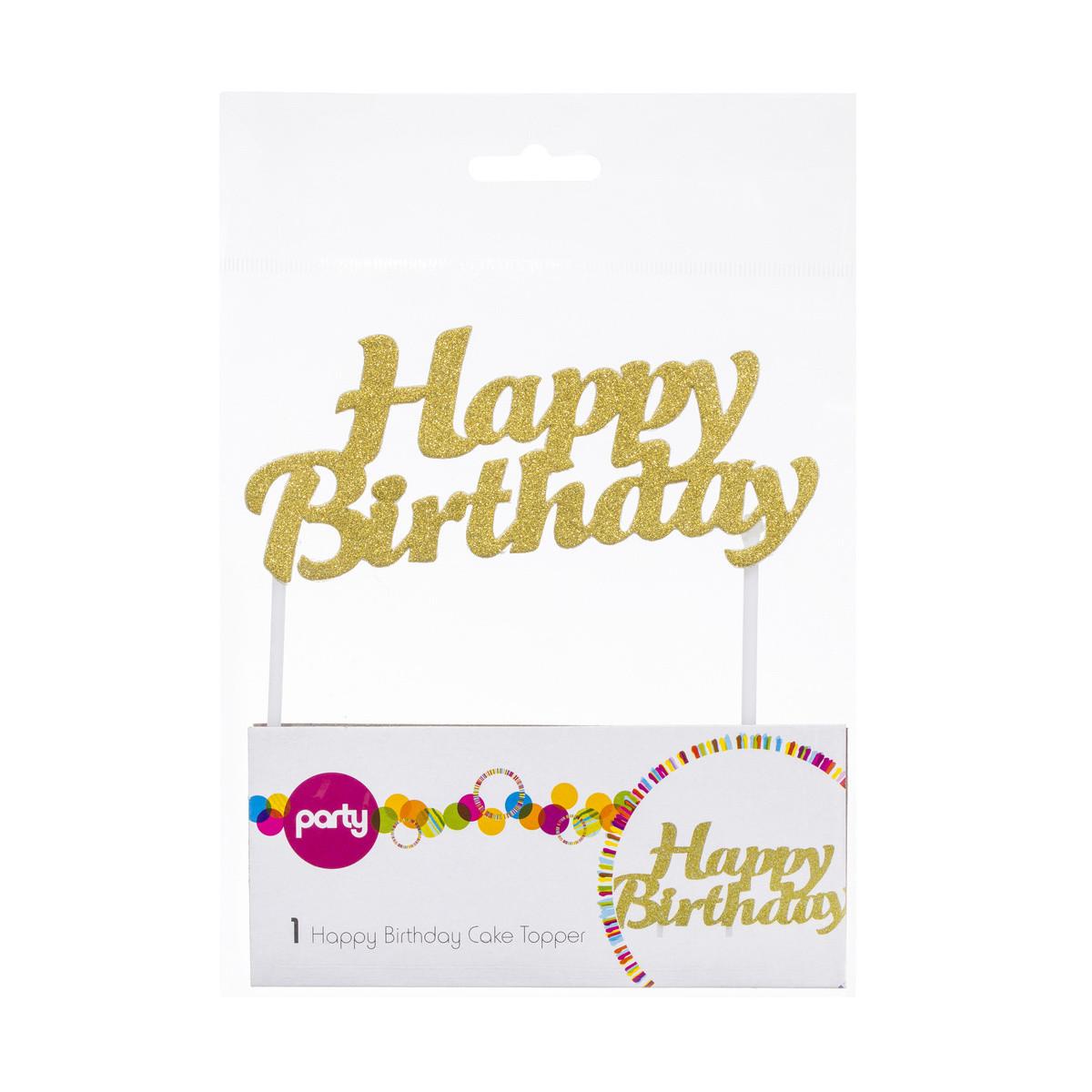 Happy Birthday Cake Topper  Happy Birthday Cake Topper