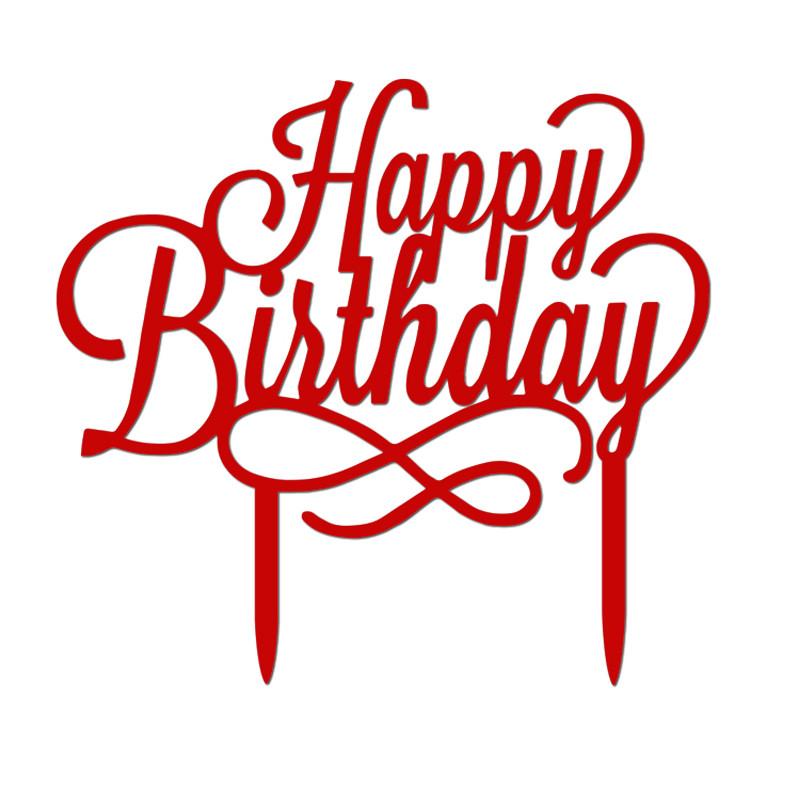 Happy Birthday Cake Topper  New Happy Birthday Cake Topper Anniversary Birthday Party