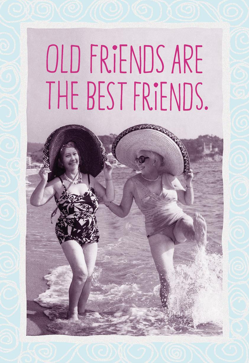 Happy Birthday Funny Best Friend  Old Friends Are the Best Friends Funny Birthday Card