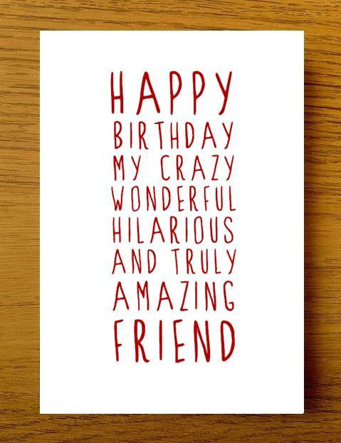 Happy Birthday Funny Best Friend  25 best ideas about Happy birthday friend on Pinterest