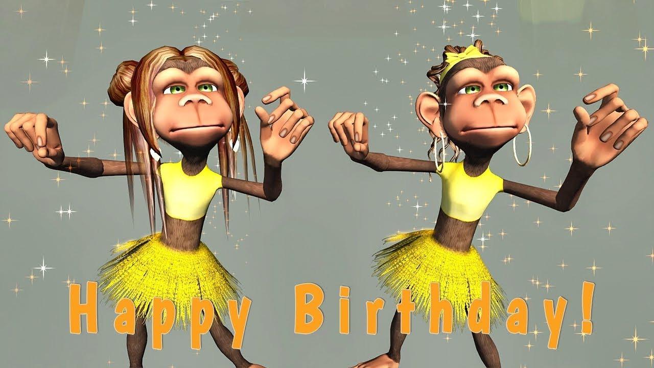 Happy Birthday Images Funny  Funny Happy Birthday Song Monkeys sing Happy Birthday