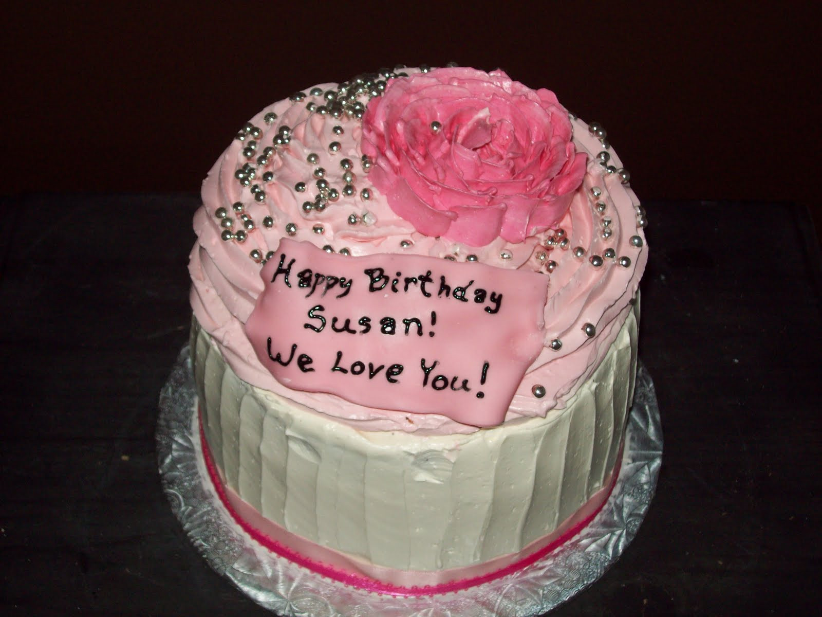 Happy Birthday Susan Cake  Free Embroidery Designs Cute Embroidery Designs