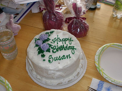 Happy Birthday Susan Cake  Chile The move the experience March 2012