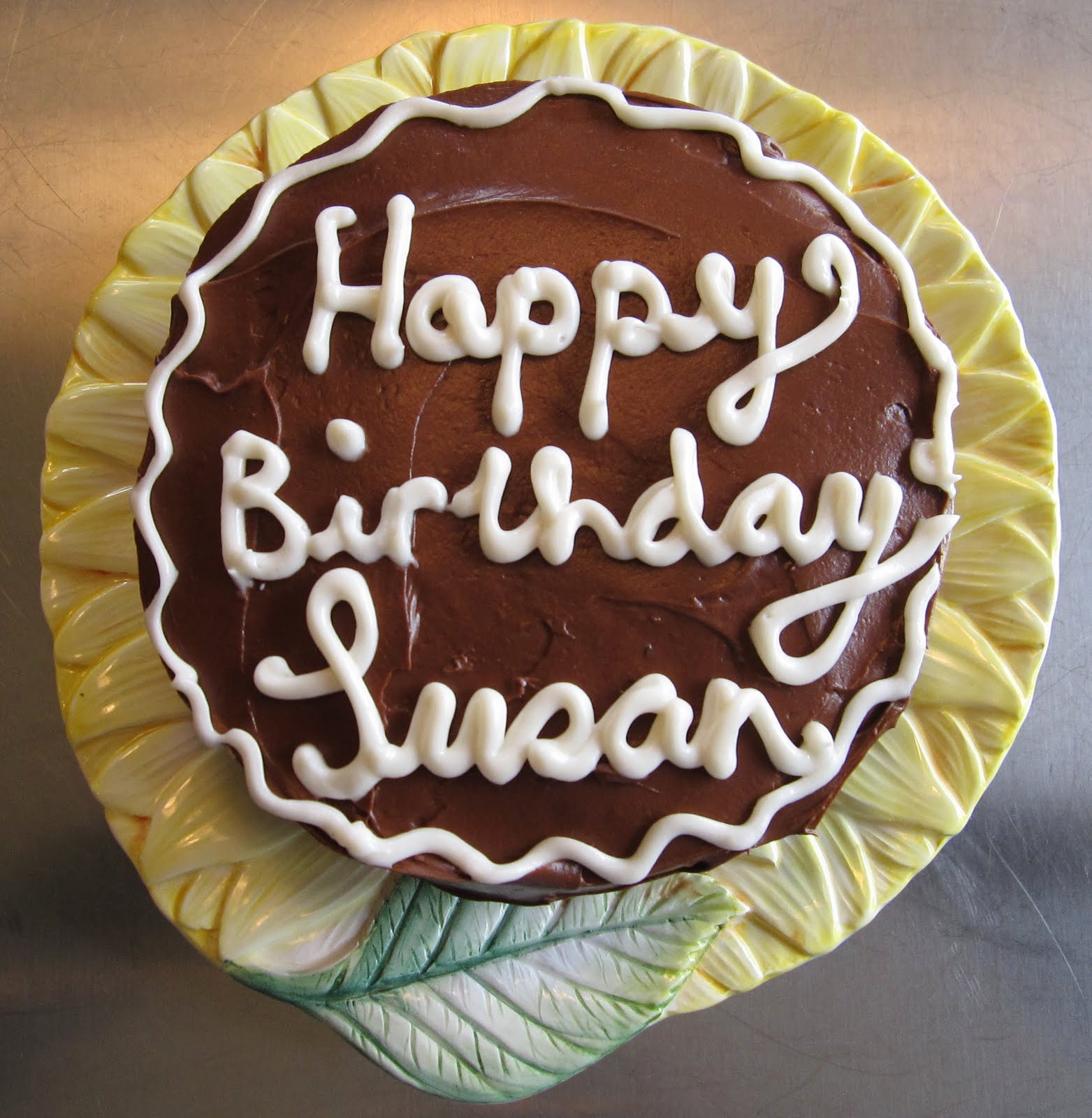"""Happy Birthday Susan Cake  small works in wool """"All the world is birthday cake so"""