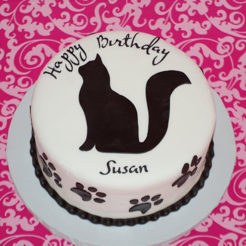 Happy Birthday Susan Cake  CakeFilley Cat Cake