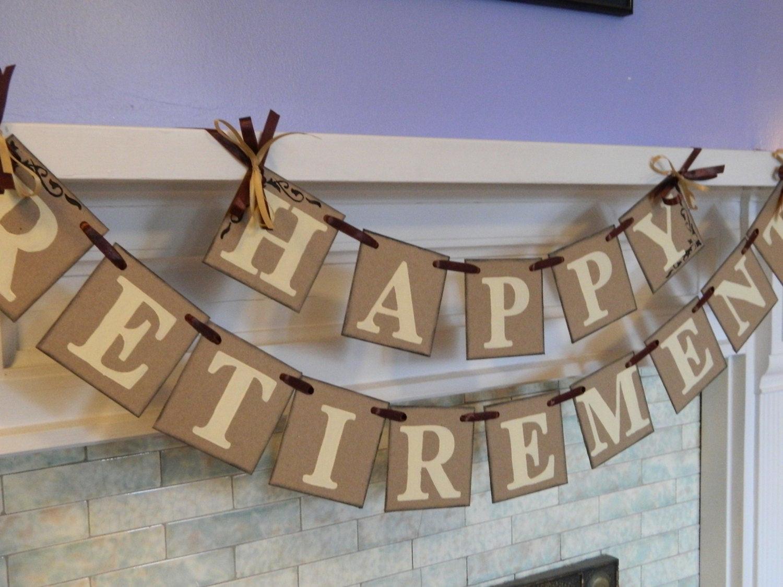 Happy Retirement Party Ideas  Happy Retirement Banner Retirement Party Sign Retirement