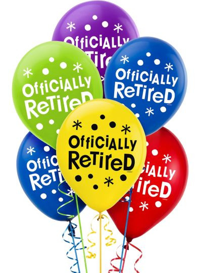 Happy Retirement Party Ideas  Happy Retirement Celebration Balloons 15ct