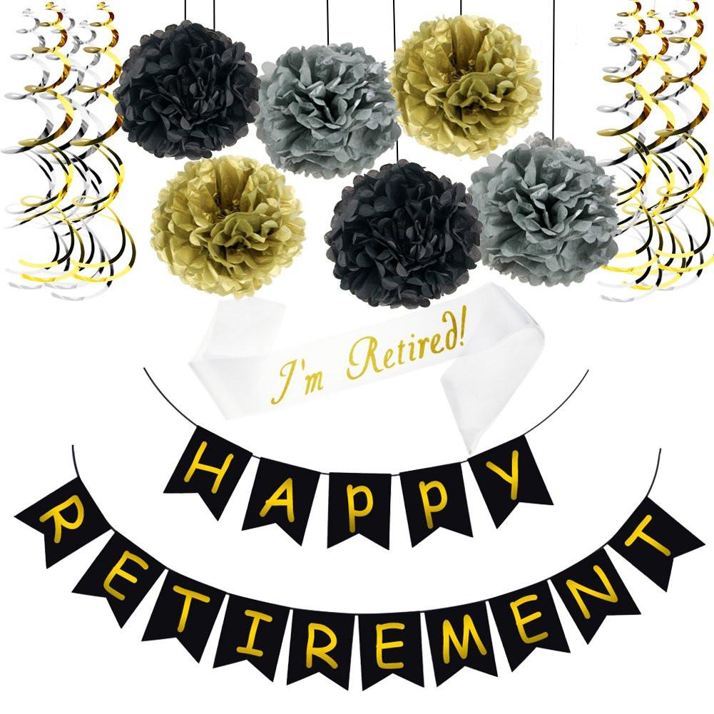 Happy Retirement Party Ideas  Amazon Goodbye Tension Hello Pension Gold Glitter