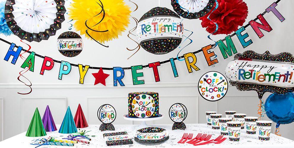 Happy Retirement Party Ideas  Happy Retirement Party Supplies Retirement Party Ideas